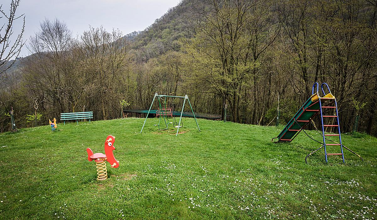 Il parco giochi per i bimbi
